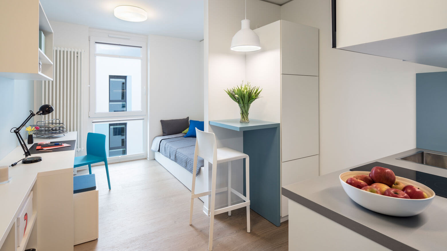 Studentenapartment mit Balkon im Quartillion Köln